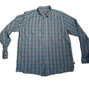 Patagonia Organic Cotton Plaid Flannel. Size Large